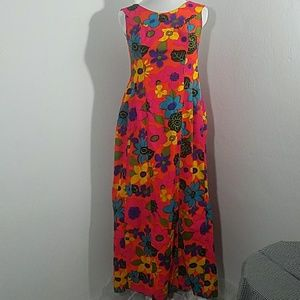 Vintage 60s/70s colorful Maxi Dress